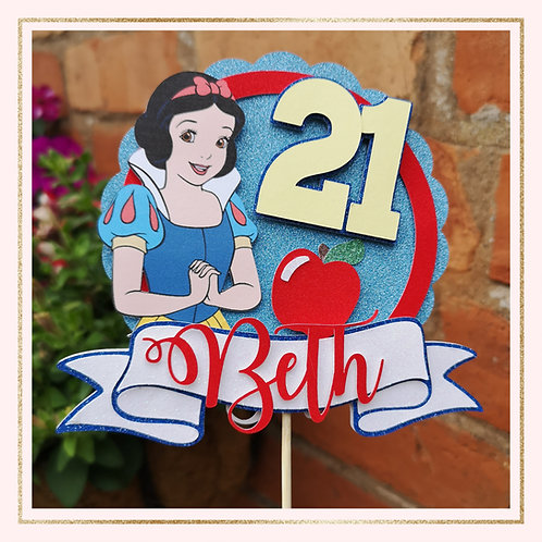 Snow White themed cake topper