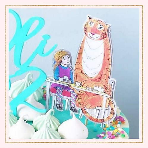 The Tiger who came to Tea themed cake topper