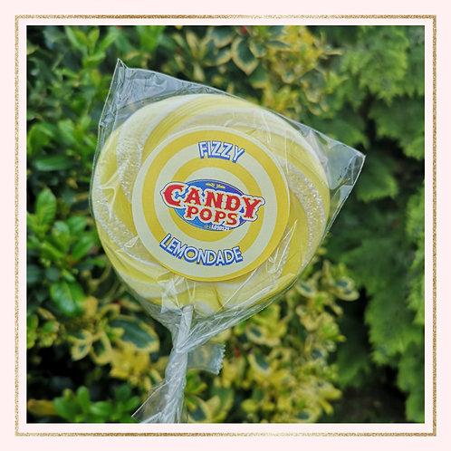 Large Fizzy Lemonade Lollipop