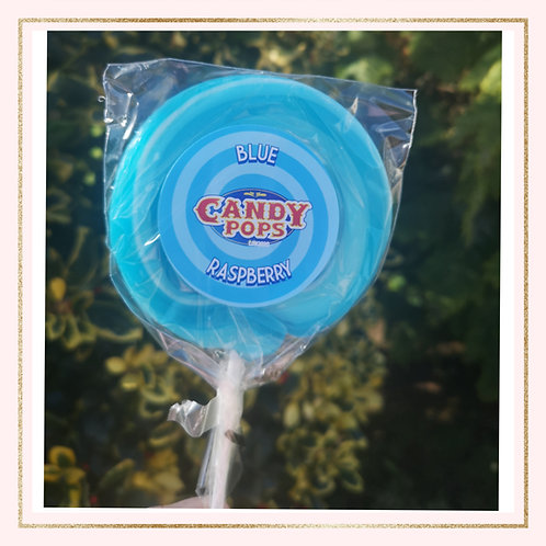 Large Blue Raspberry Lollipop