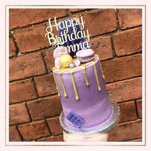 'Happy Birthday NAME' cake topper