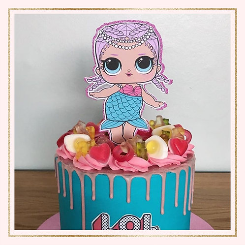 LOL doll cake topper