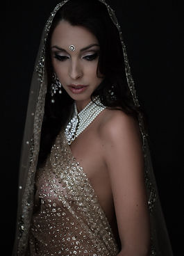 Indian bride makeup & hair by artist in NYC