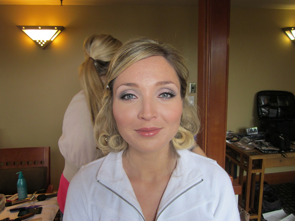 Gorgeous and very happy brode with her Wedding makeup