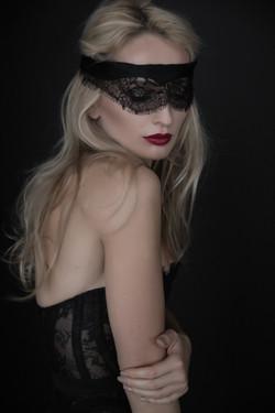 Model in black tops