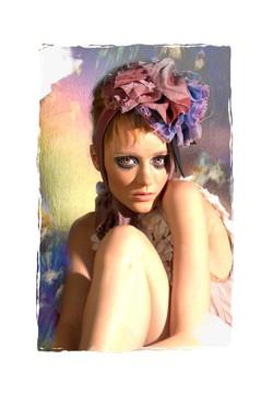 lady model makeup