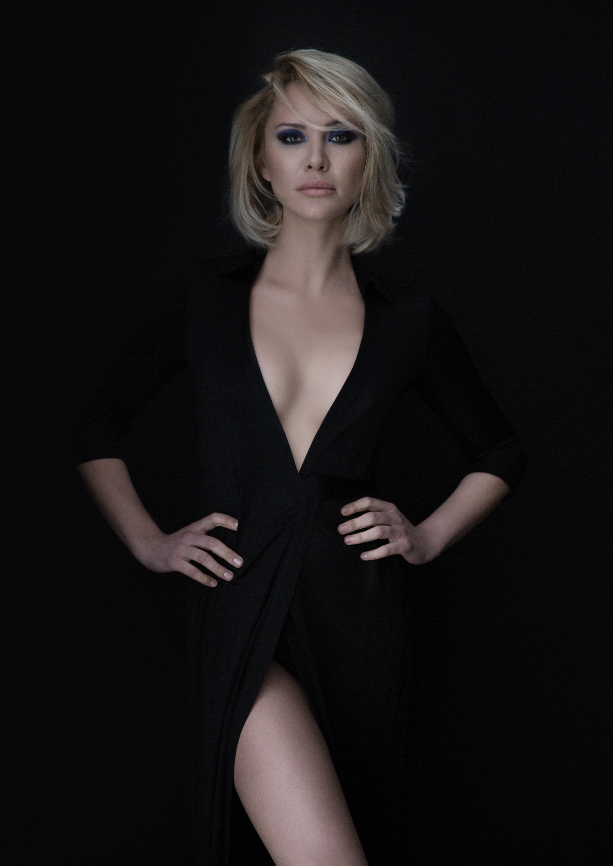 Sexy model in black