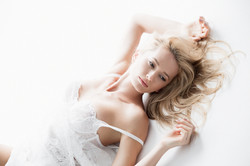 Sexy model laying down