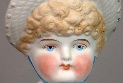 Antique Reproduction Porcelain Bonnet Head Doll Mold #S606