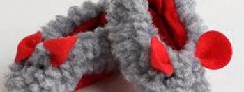 Mouse Slipper  70mm Gray