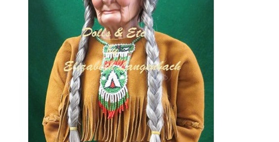 INDIAN CHIEF DOLL WIG 155, Loc D28