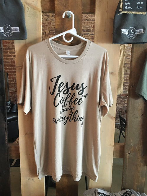 Jesus and Coffee Change Everything t-shirt
