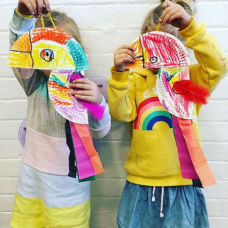 Paper plate birdies! So brilliant _merri
