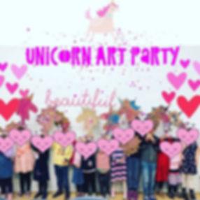 The sweetest little unicorn themed art p