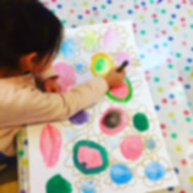 Floral watercolours with the preschooler