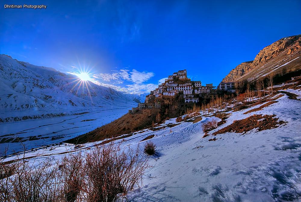 Key Monastery Image Shot at  17:33 Pm