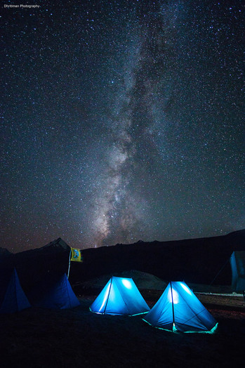Milky Way over Chandratal Camp Site