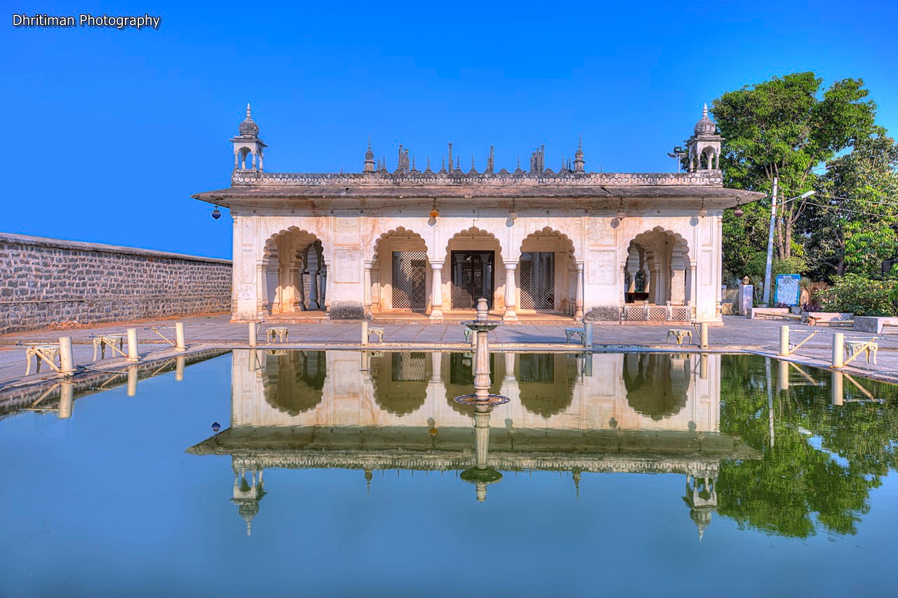 Paigah Tombs Pond Side View