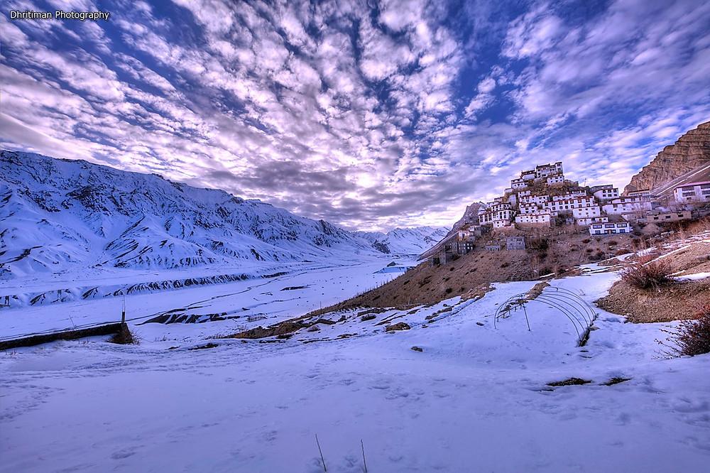 Key Monastery Image Shot at 17:52 pm