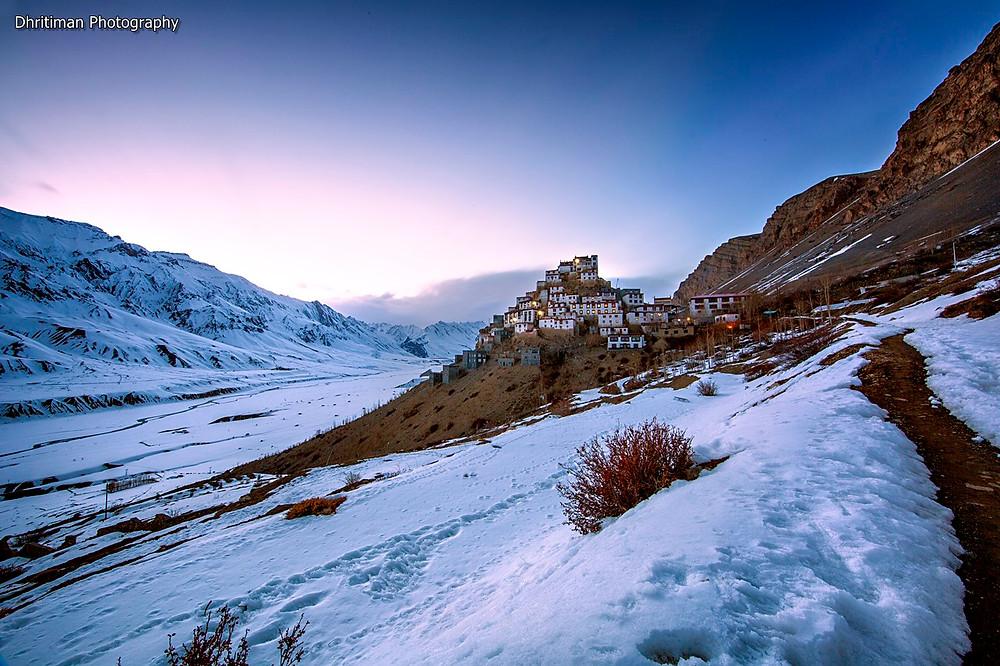 Key monastery Image Shot at 18:58 pm