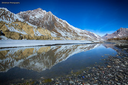 Reflections in Spiti River