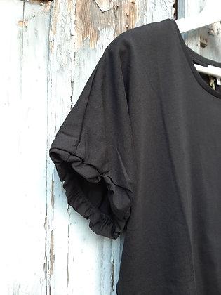 T-shirt arricciata nera