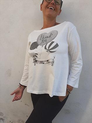 """t-shirt """"thankyou"""" bianco"""