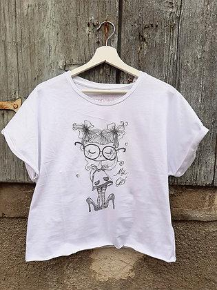 T-shirt tacchi bianca