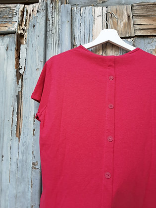 T-shirt bottoni ciclamino