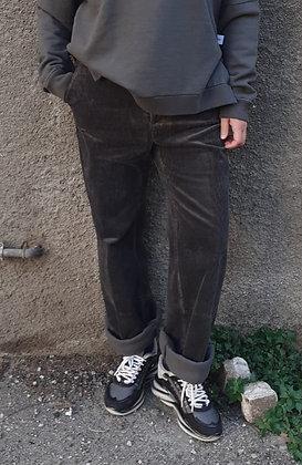 Pantapalazzo velluto grigio