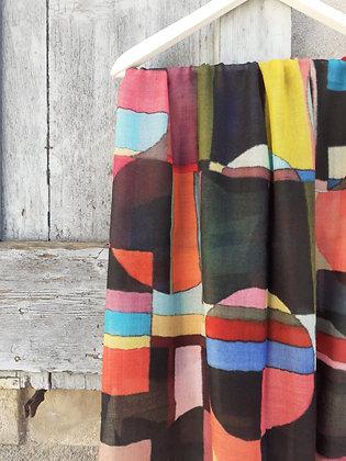 Sciarpa multicolor geometric