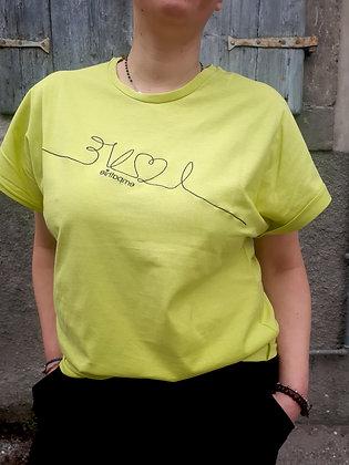 T-shirt ricamo Lime