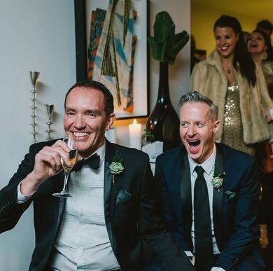 Two grooms are better than one. Marriage equality is important to Jo Booth, Sydney marriage celebrant.
