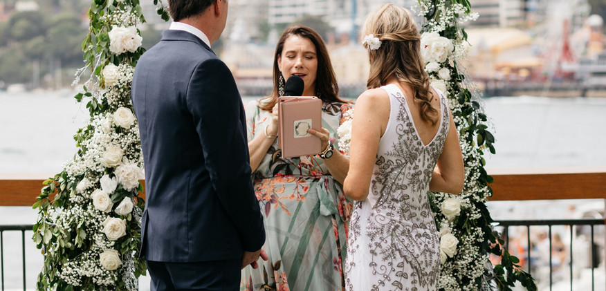 Time for vows for Andi + Richard with Jo Booth, Sydney marriage celebrant