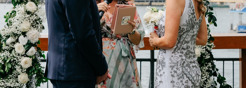 Andi + Richard are married at Pier One by Jo Booth, Sydney marriage celebrant