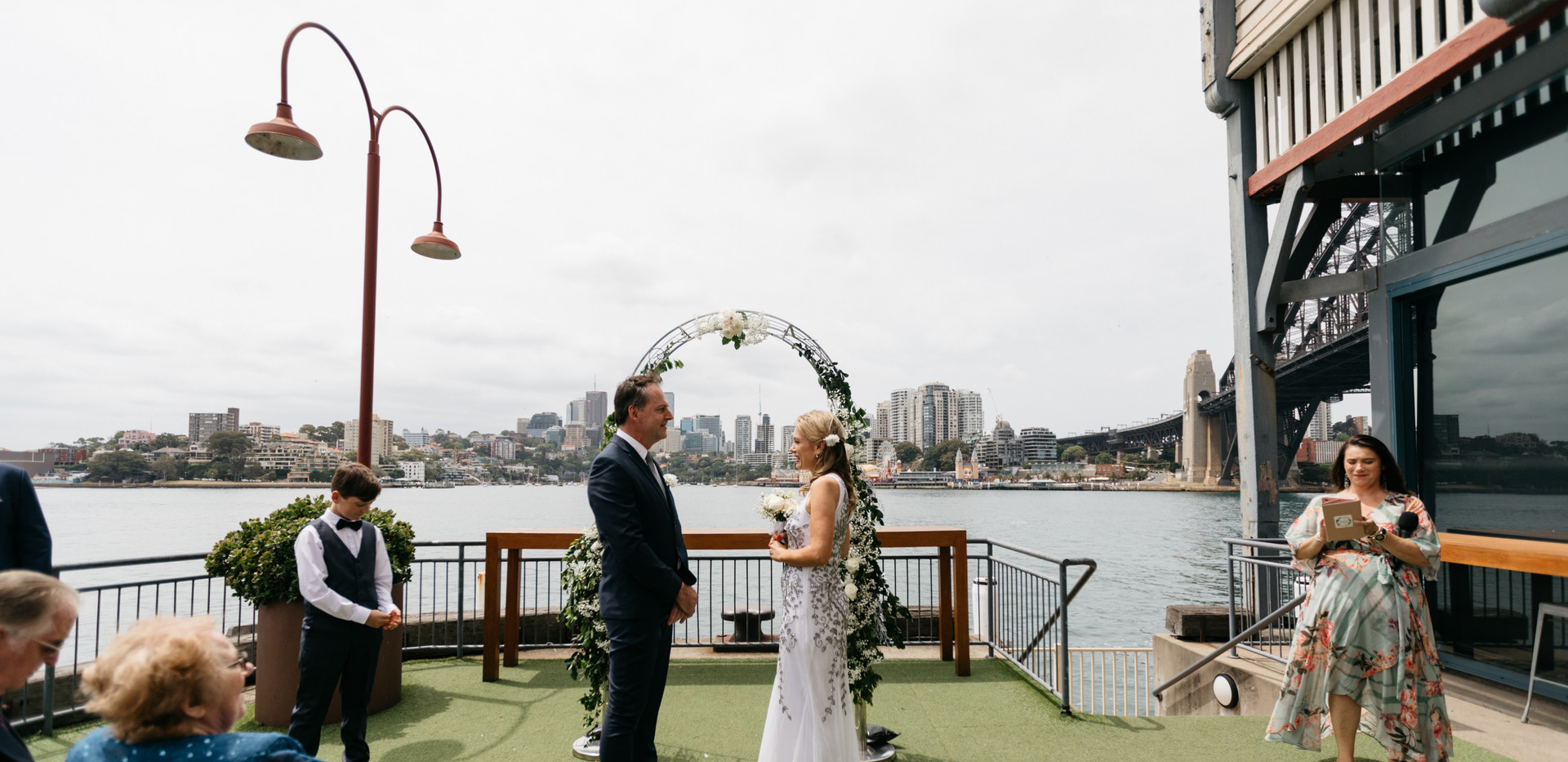 You are now husband and wife with Jo Booth, Sydney marriage celebrant officiating