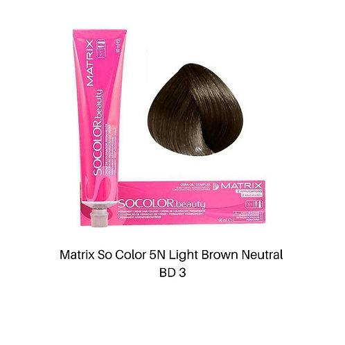 Matrix So Color 5N Light Brown Neutral