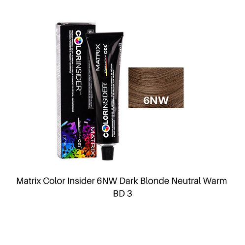 Matrix Color Insider 6NW Dark Blonde Neutral Warm