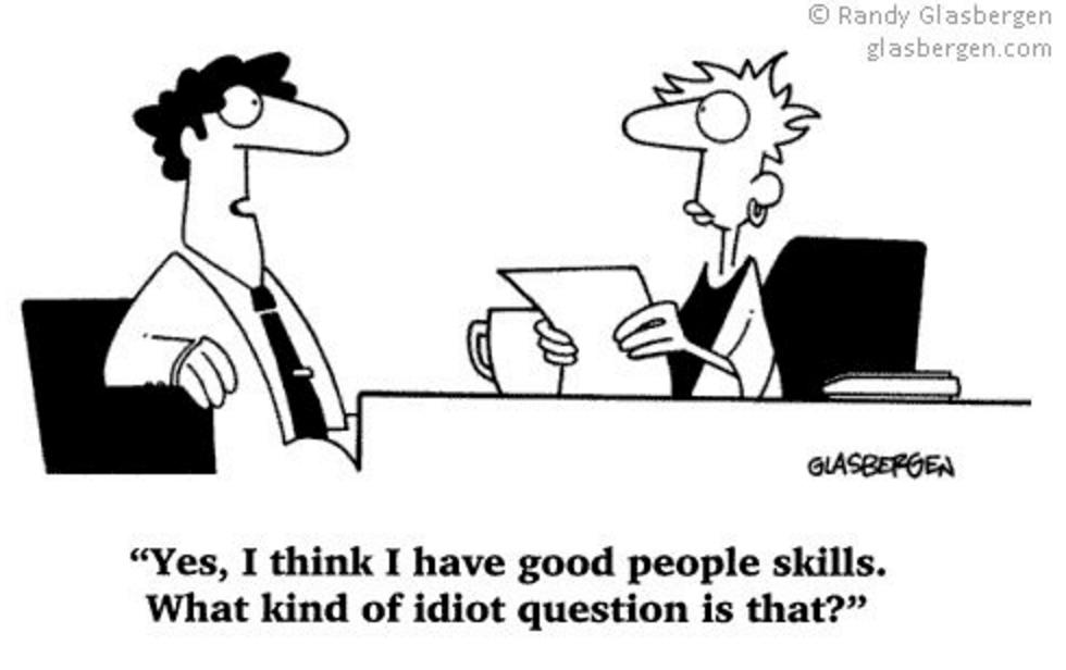Good people skills cartoon