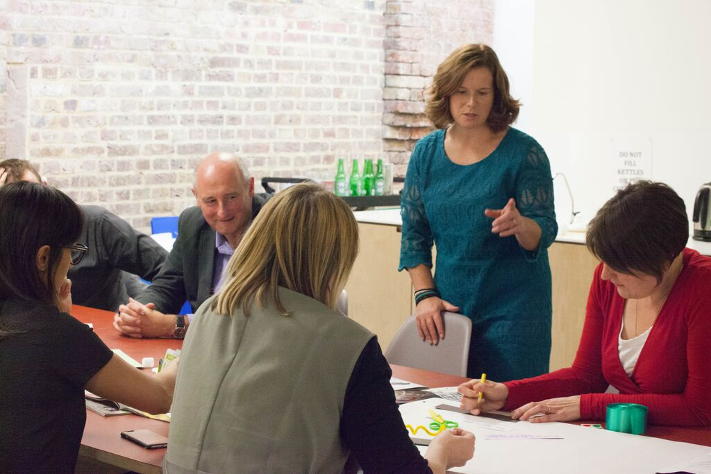 Amanda facilitating a group workshop