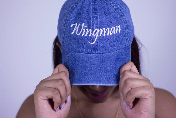 Wingman Light Denim Hat (White Font)