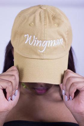 Wingman Tan Hat (White Font)
