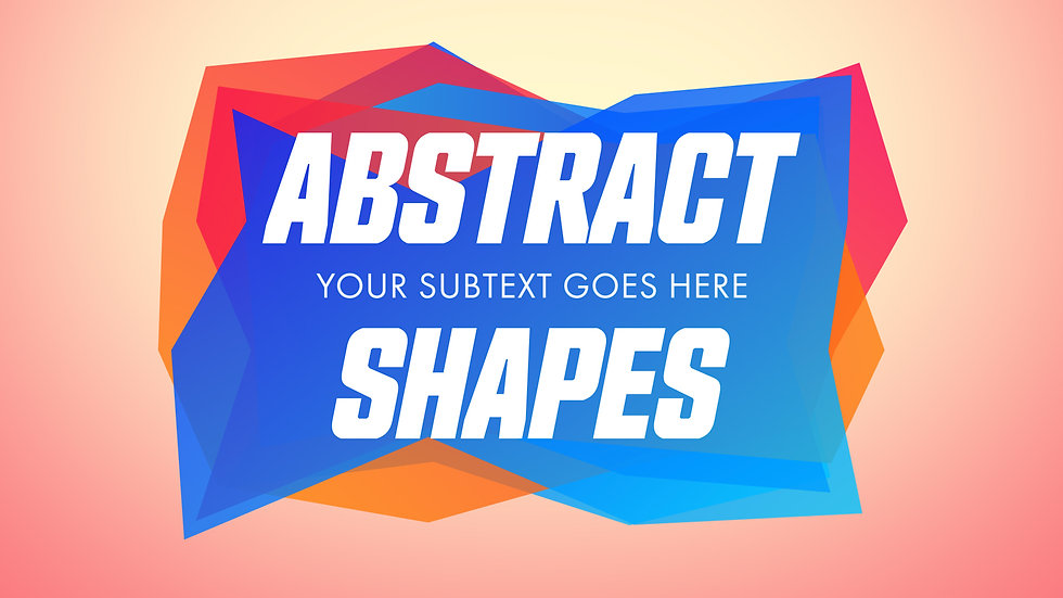 Abstract Shapes Banner Titles