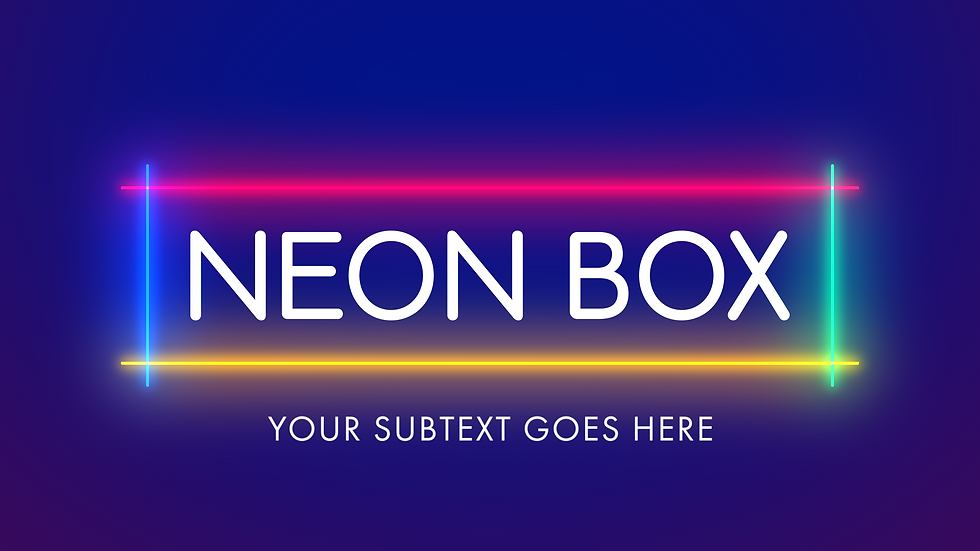 Colorful Neon Box Titles