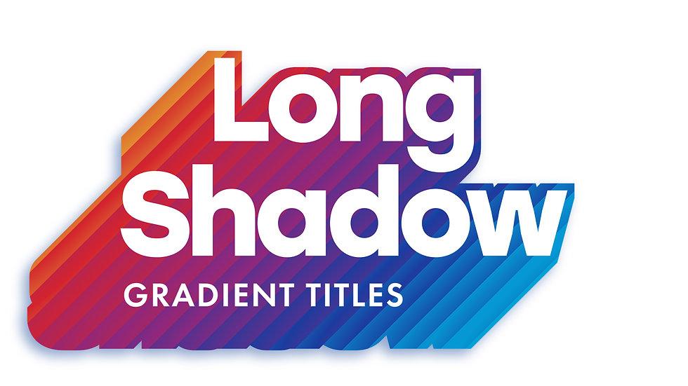 Long Shadow Gradient Titles