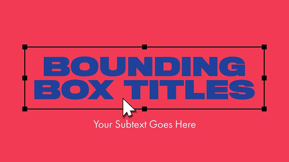 Bounding Box Titles