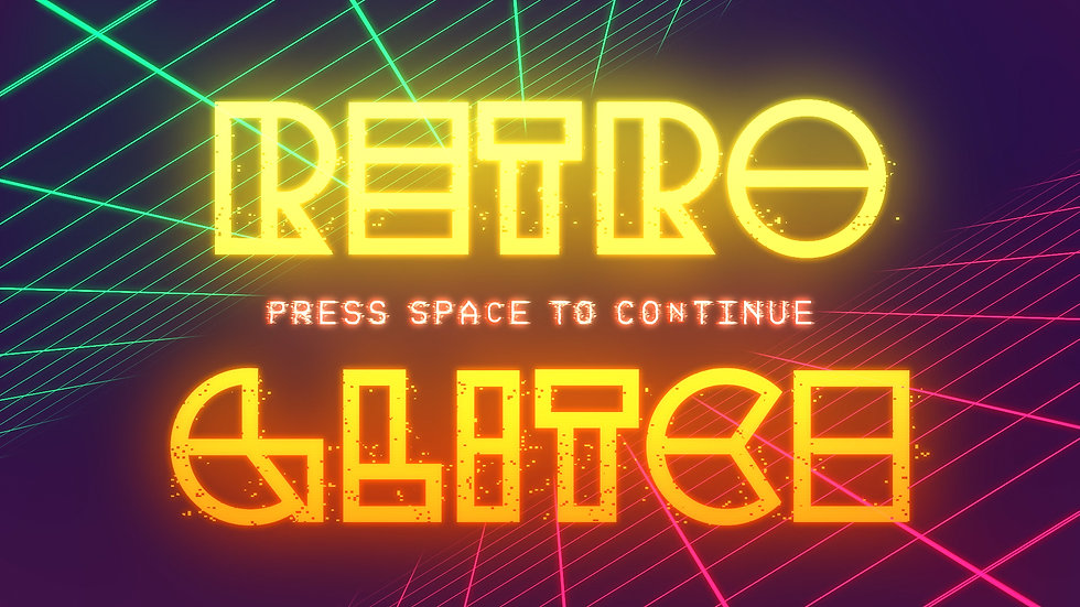 Retro Glitch Titles