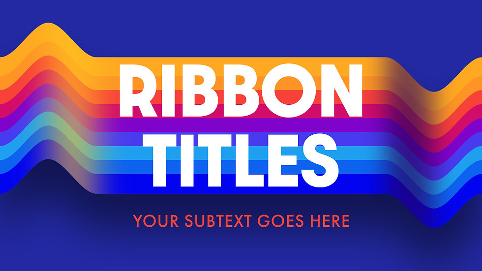 Broadcast Ribbon Titles