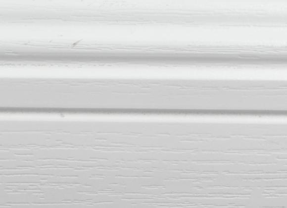 White PVC Clip on skirting  Length 3 metres