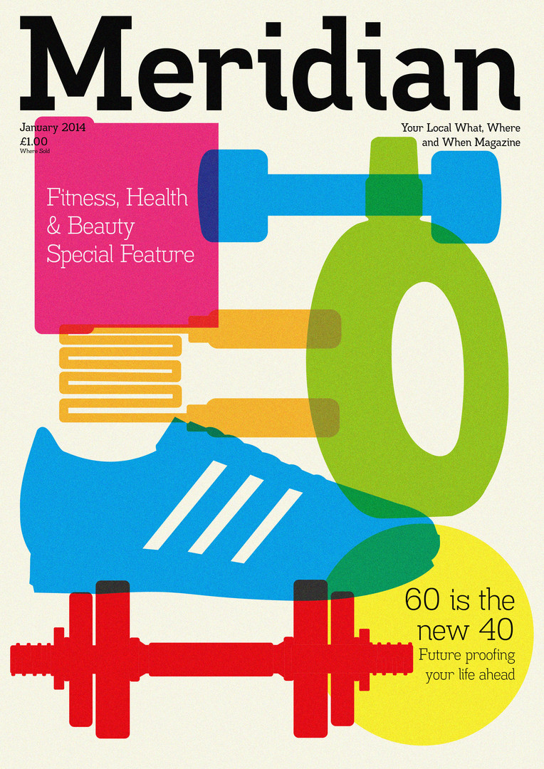 Magazine cover design and illustration